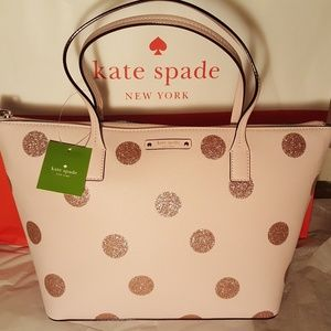 Kate Spade NWT Hani Haven Lane Glitter Dot Handbag